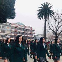 Desfile educacional, por natalicio de Bernardo O'higgins